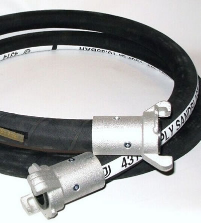 One sandblast hose is displayed in the picture, with mark on the surface.