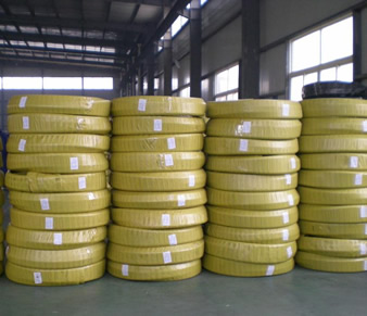 40 rolls plastic film packing high pressure steel wire spiral hose in stock