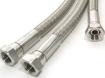 There are three teflon hoses, each of them has metal connectors.